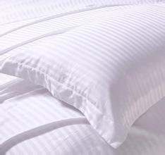 100% cotton white satin stripe fabric
