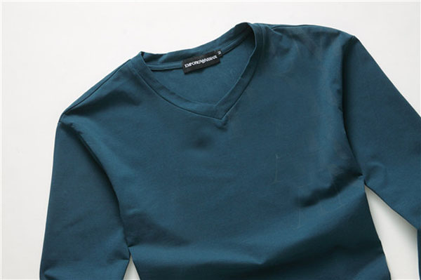 Good Quality Cotton Fitted V-Neck Long Sleeve T Shirt for Men