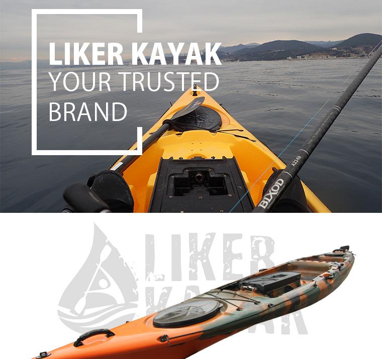 PE Hot Sale 4.3m Length Fishing Kayak Top Liker Kayak Sit on Tops