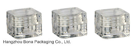 5g Clear Square Cosmetic Cream Jar