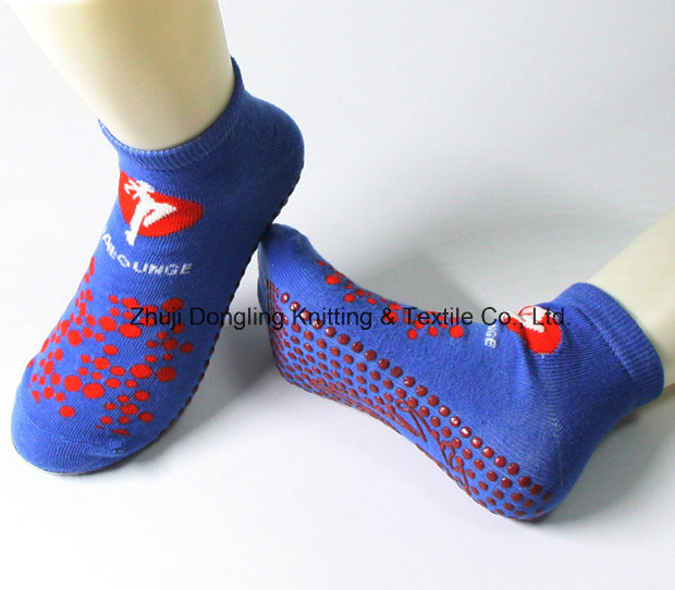 Best Quality Non-Slip Trampoline Socks with Mesh Knitting
