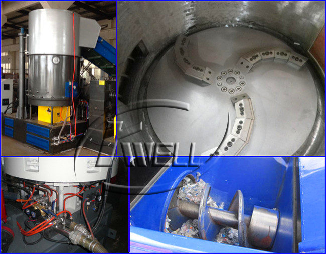 PP/PE Compacting Pelletizing Line/Plastic LDPE Film Recycling Plant/Film Granulate Machine