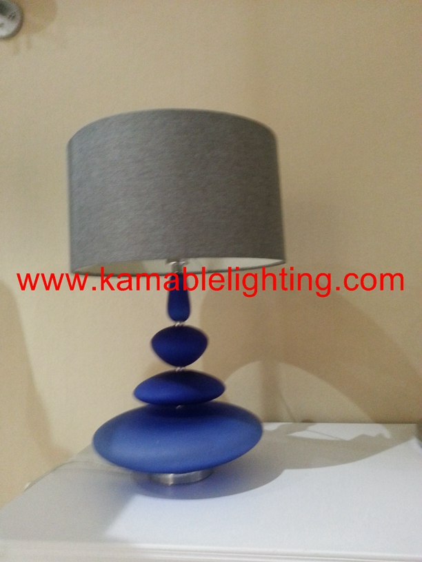 Modern Design Blue Glass Base Home Goods Table Lamps (JT13050/00/001)
