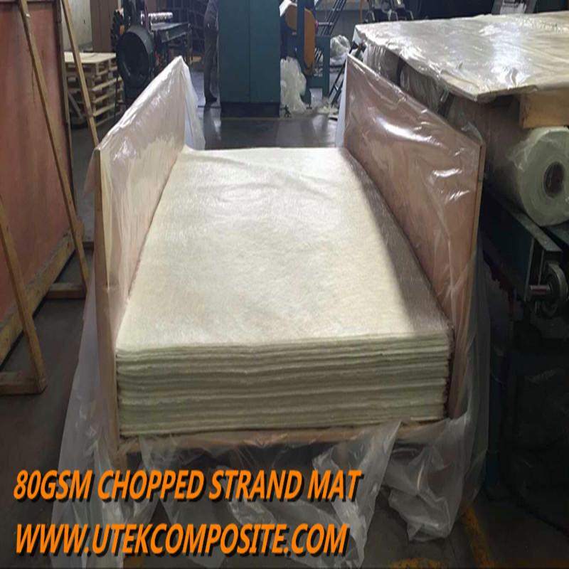 80GSM Light Weight Piece Size Fiberglass Chopped Strand Mat