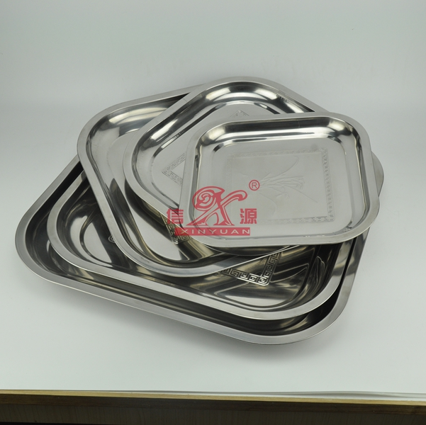 Stainless Steel Square Serving Plate (FT-00802)