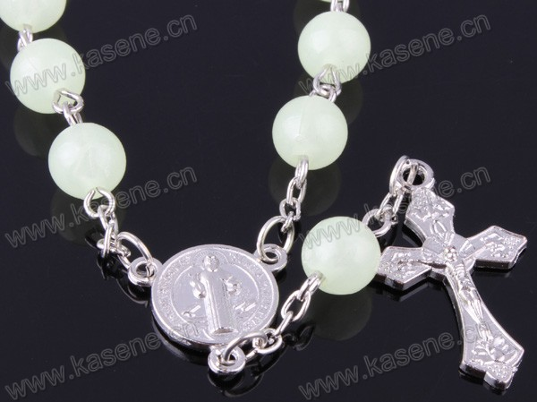 8mm Colorful Chamilia Plastic Bead Rosary Bracelet