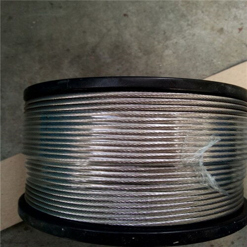 Electro Galvanized Steel Wire Rope 7X19