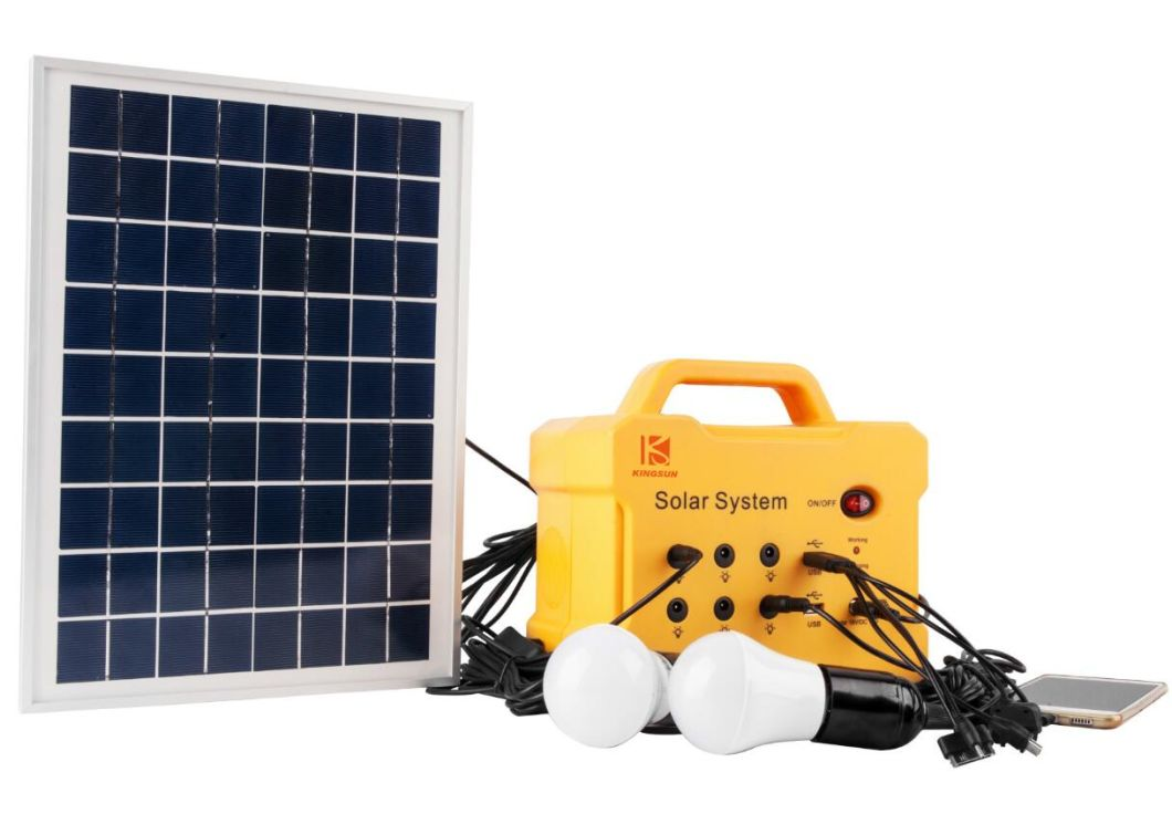 10W/15W/20W Portable DC Solar PV/Panel/Energy/Home/Power System with MP3/FM Radio