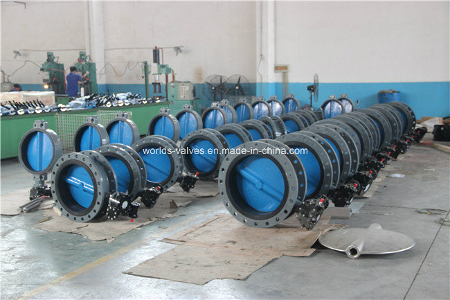 Class150 Double Flange Butterfly Valve with Painting Disc (D41X-10/16)