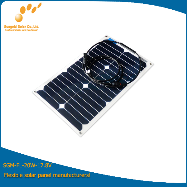 Mini Flexible Solar Panel 20W with Sunpower Cell