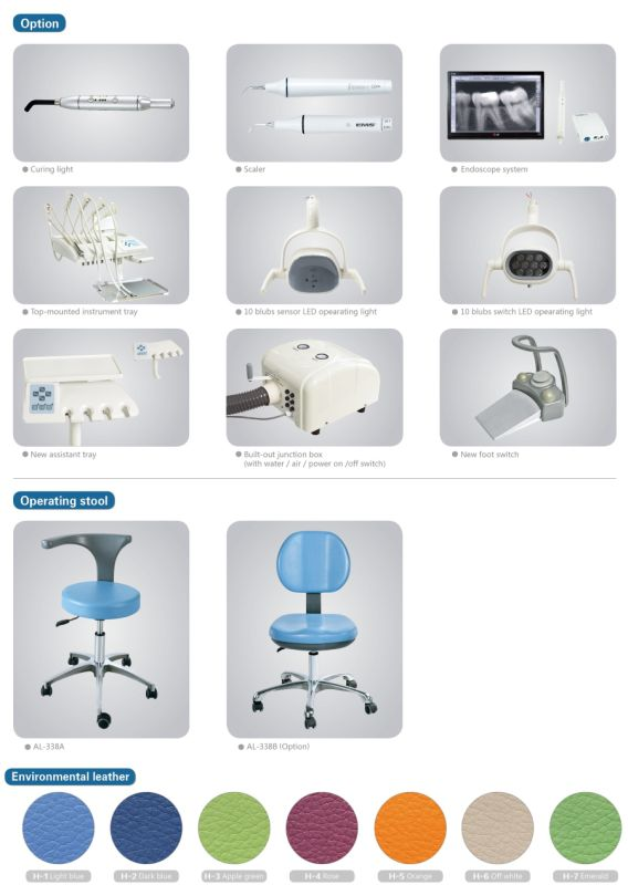 388SA Side Mounted Luxury Dental Unit TUV CE Approved