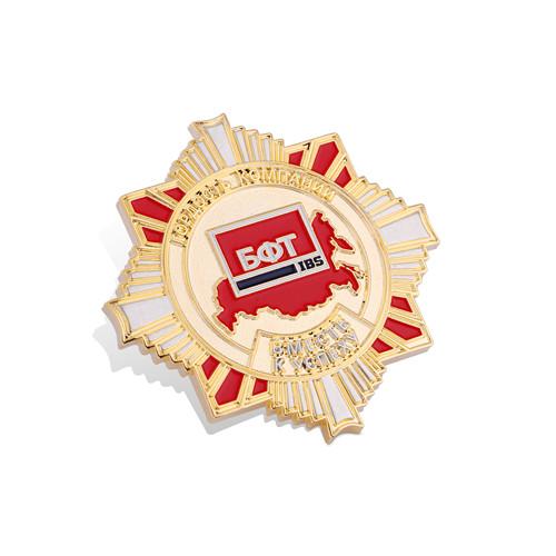 Offset Print Badge, Organizational Epoxy-Dripping Pin (GZHY-OP-004)