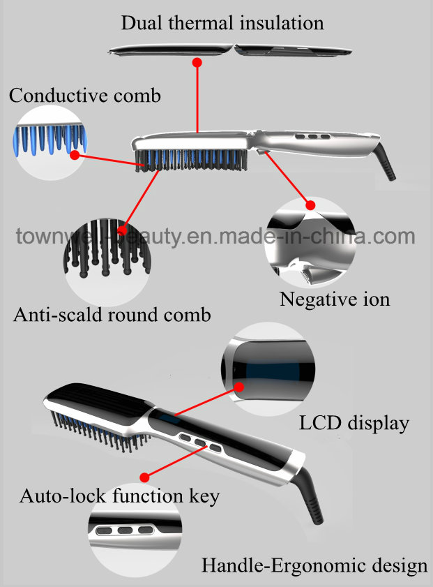 Hot Sale Professional Hair Comb Hair Straightener with Steam