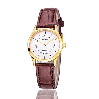 Simple Leather Quartz Couple Wrist Watch