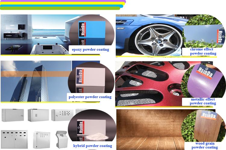 Inorganic Nano Electrostatic Metallic Effect Powder Coating for Bicycle