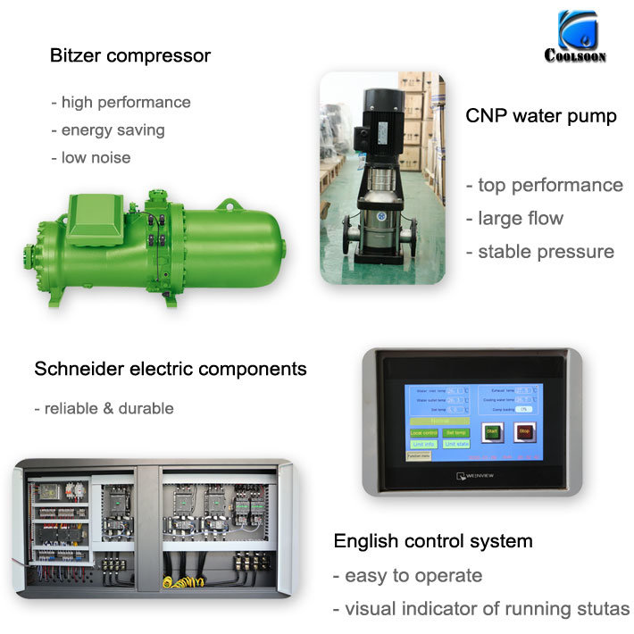 Water Coold Screw Industrial Water Chiller Supplier