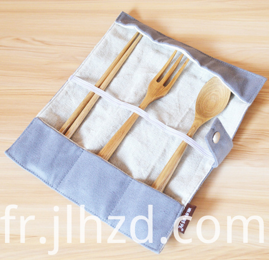 Wooden Chopsticks Spoon Fork Three Sets