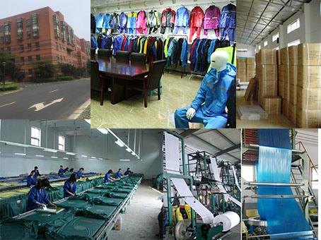 100% Polyester Nylon Waterproof Durable Lightweight Rainwear for Fishing