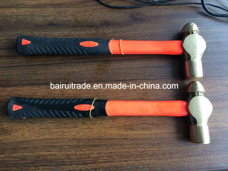 16oz Brass Ball Pein Hammer with Fibre Handle