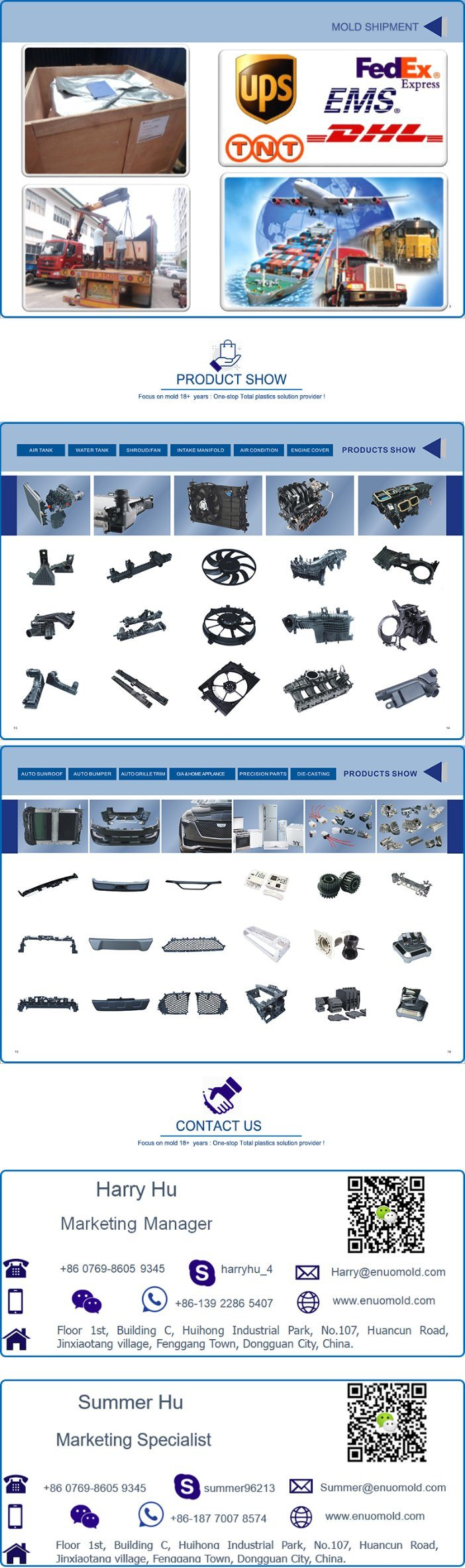 China OEM Auto Interior Fan Shroud Injection Mould