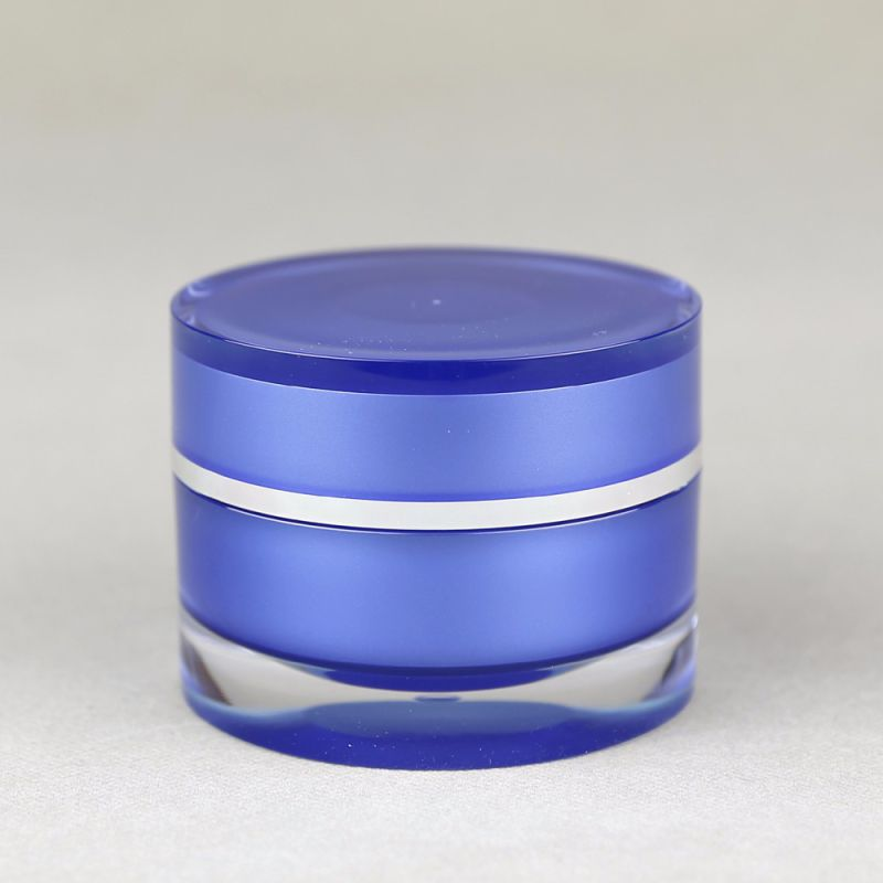 2 oz matte finish acrylic cream jar