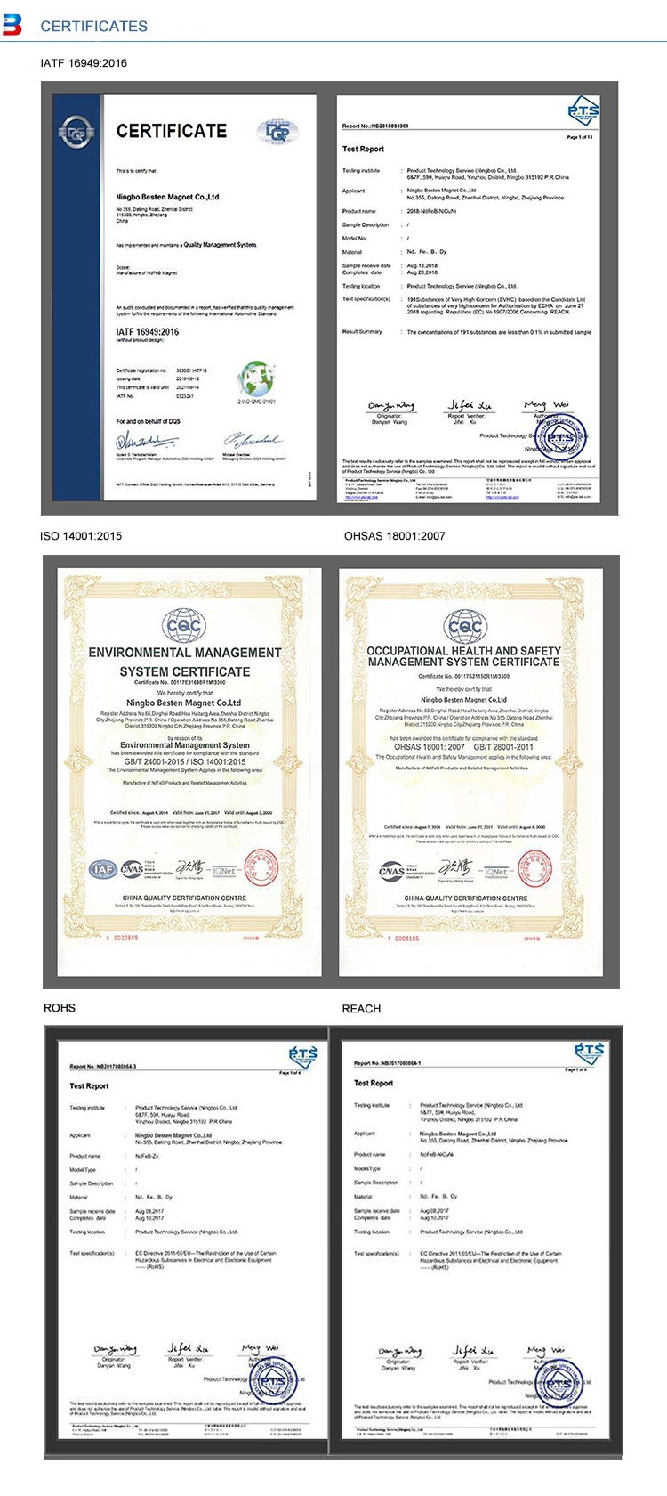 magnet certifications