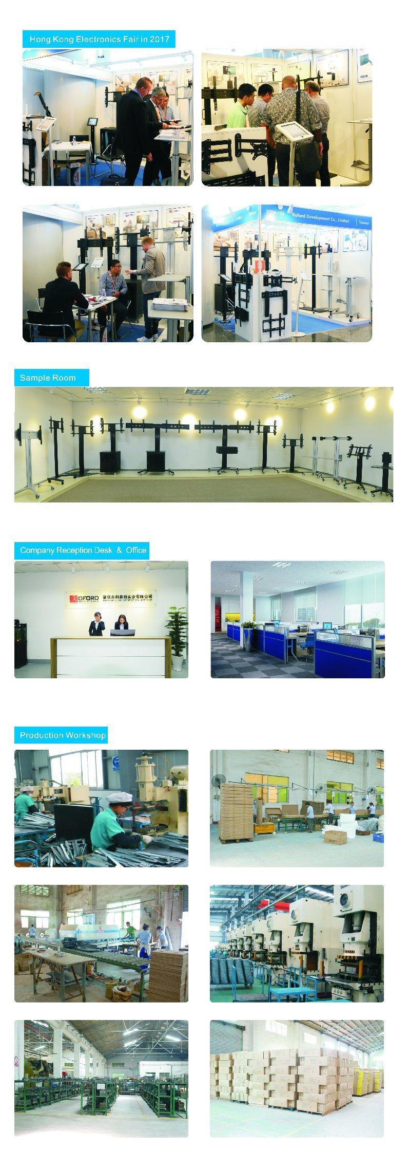 Landscape & Portrait Public TV Floor Stand/Bracket/Mount Without Tilt