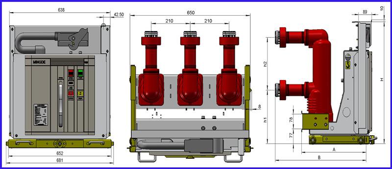 17.5kv Medium-Voltage Electric DC Circuit Breaker of Vmv Series