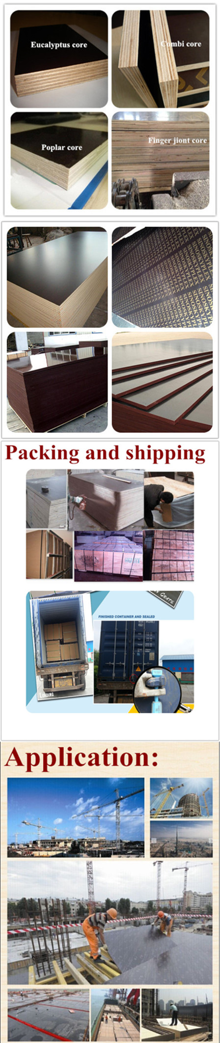 Hot Sale 18mm Plywood Black Film Faced Plywood