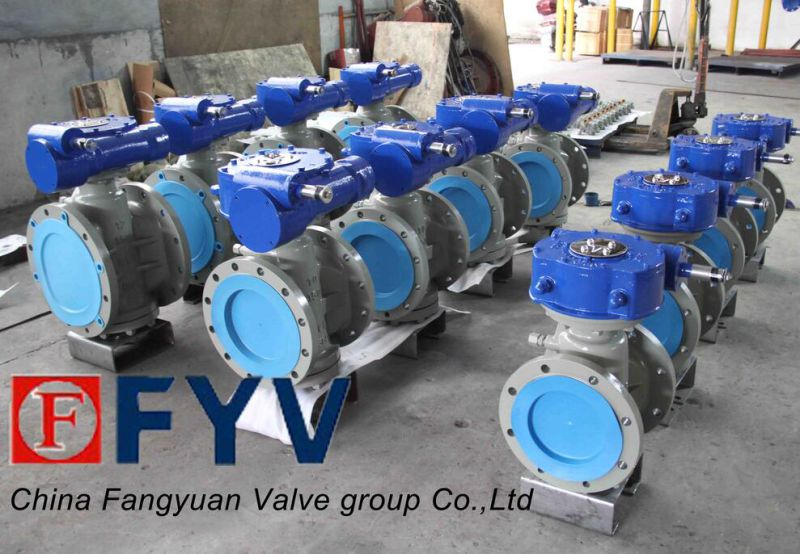 Resilient Seated Electrical Actuator Plug Valve CF8m