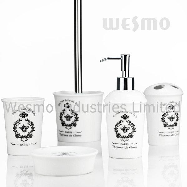 Crackle Glaze Porcelain Bathroom Accessories with Decal (WBC0611A)