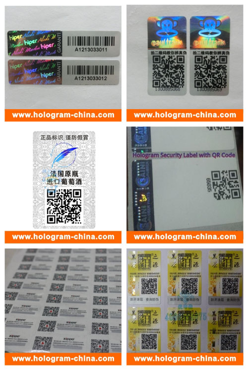 Custom Hologram 3D Sticker with Qr Code