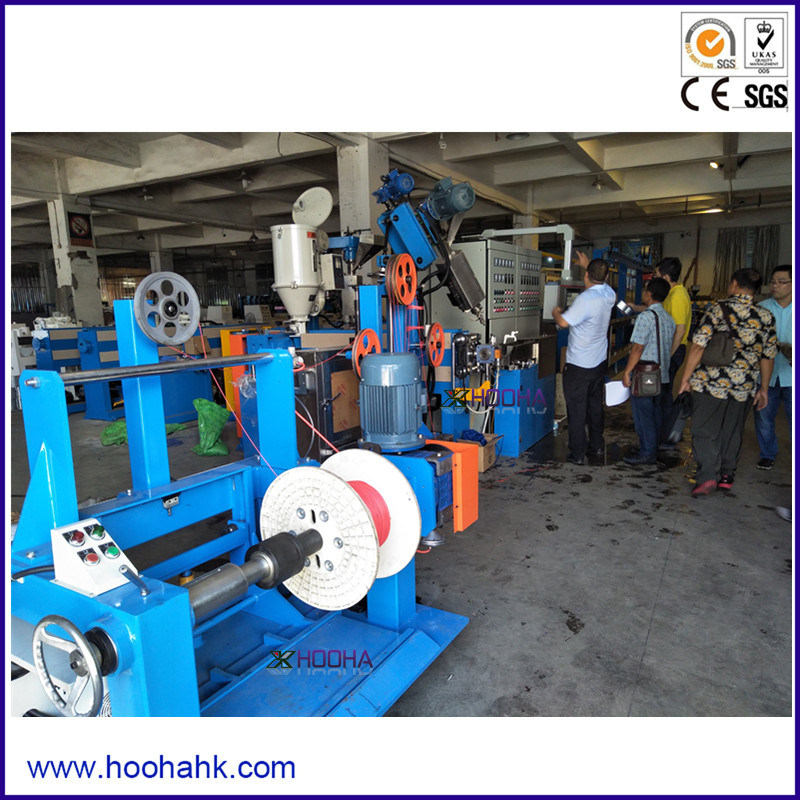 Single Screw PVC PE TPE Wire and Cable Extruder Line