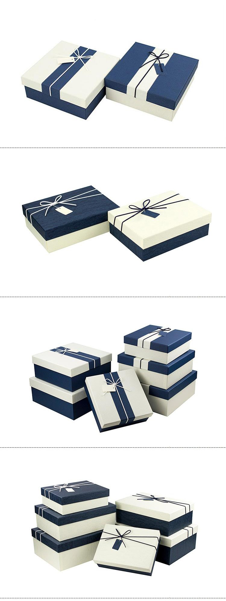 Gift-Wrapped Present Packaging Box