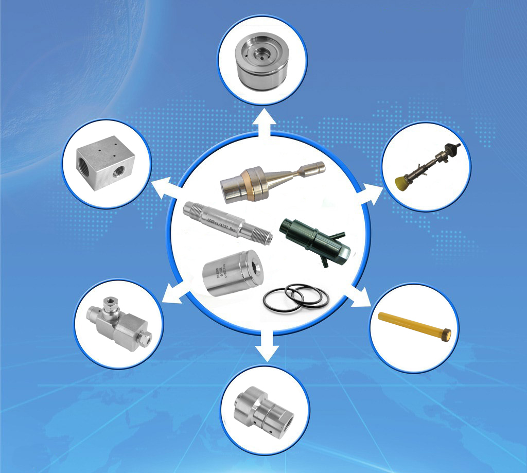 Water Jet Cutting Machine CNC Machine Spare Parts; Bleed Down Valve Adapter