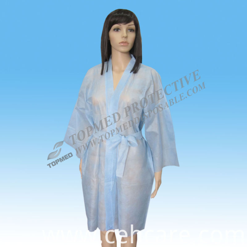 Short Sleeve Kimono for Hairdressing Salon, Beauty Centre, Massage