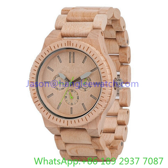 2016 Top-Quality Wood Watches Multi-Function Quartz Watch (Hl-Ja 15023)