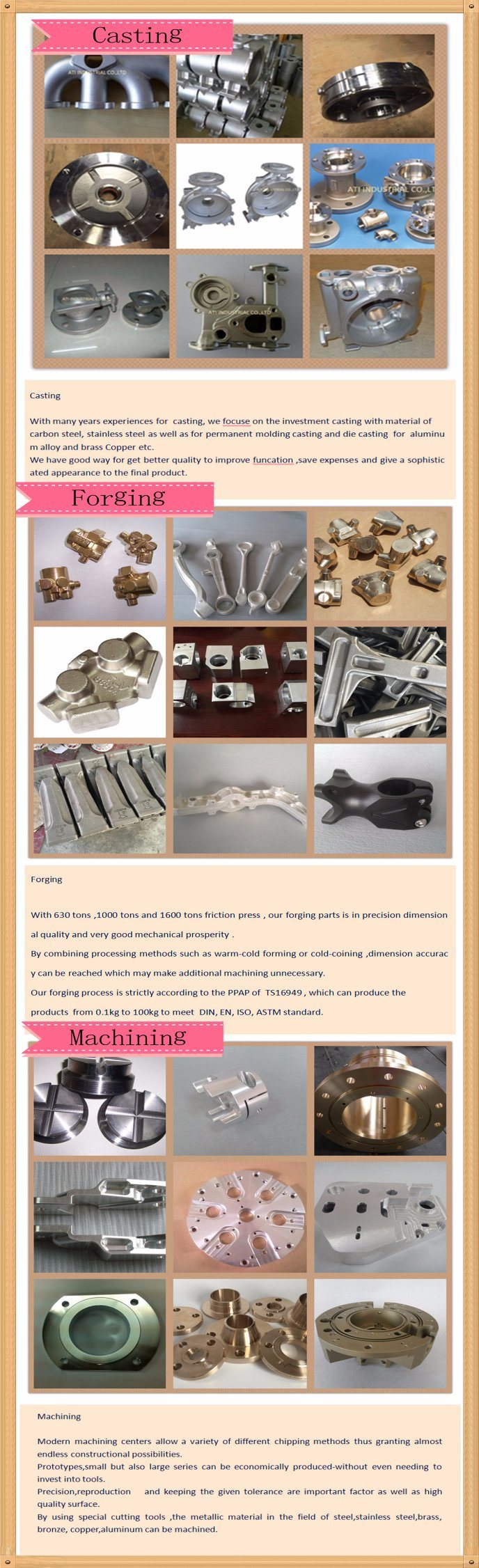 Customized Cold Metal Aluminum Casting Forging Casted and Forged Machining Parts