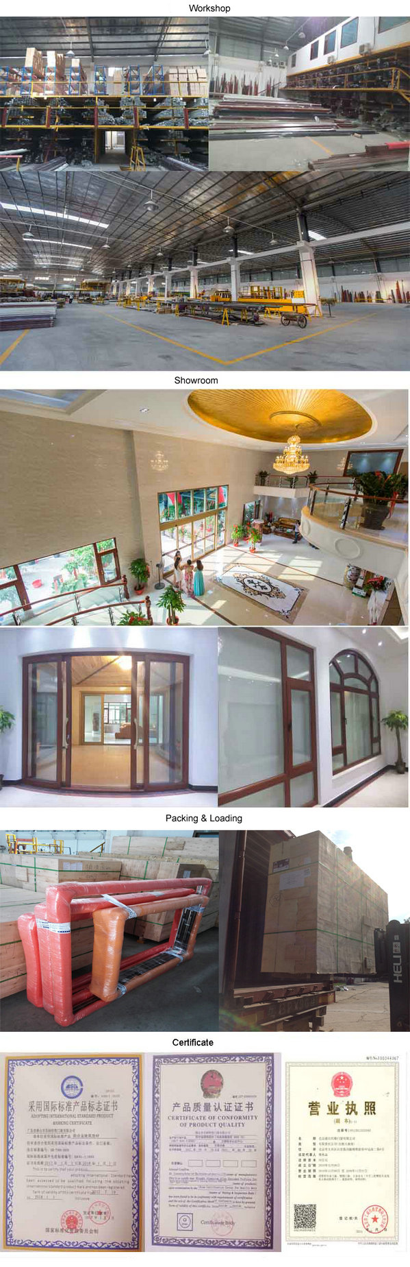 Aluminium Profile Tempered Glass Commercial Windows (FT-W126)