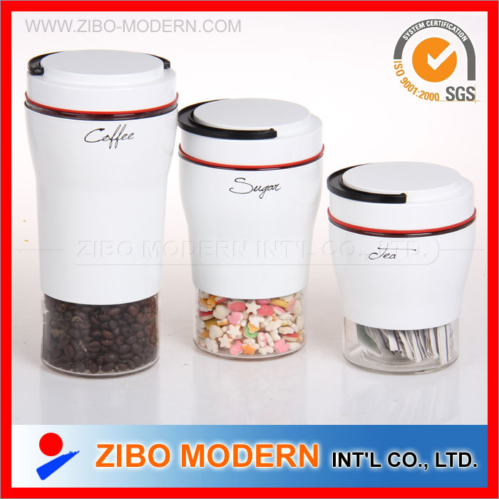 Various Size for Choice Stainless Steel Coated Glass Jar for Storage