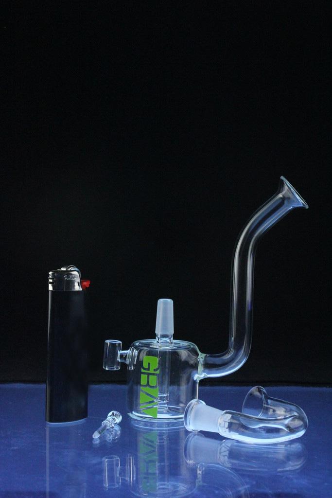 Mini Snorkel Rig Hookah Glass Smoking Water Pipe (ES-GB-549)