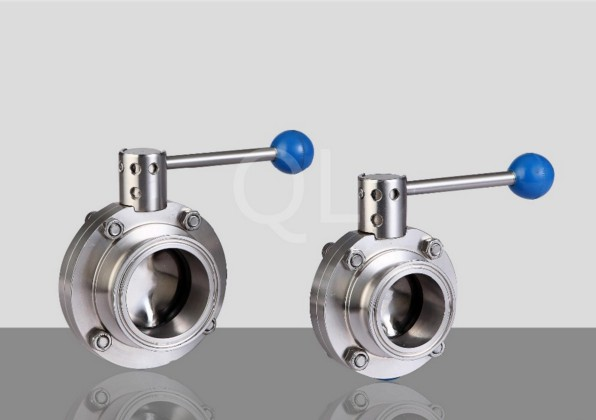 High Quality Clamped Stainless Steel DIN Sanitary Butterfly Valve