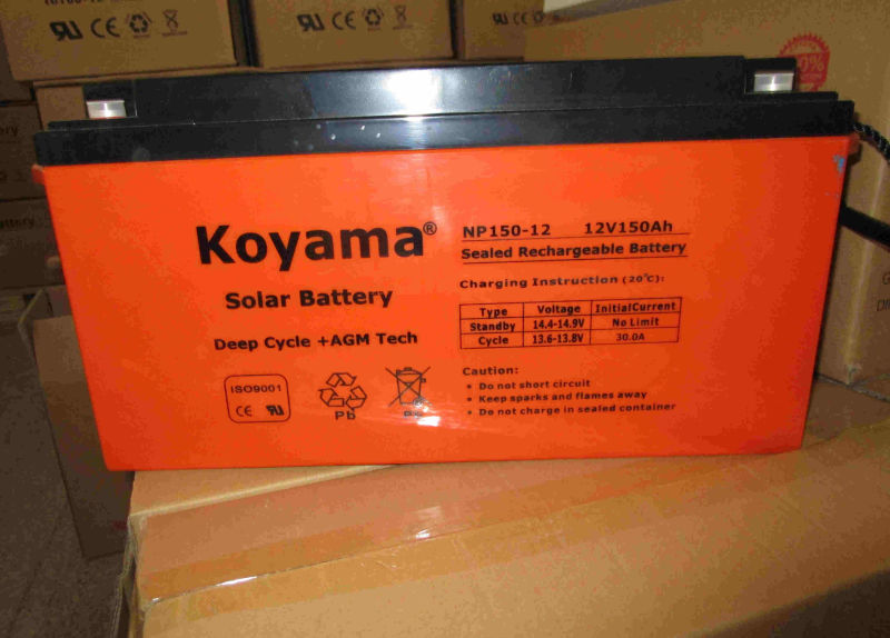12V 150ah AGM Solar Battery for Telecom, Powerplant