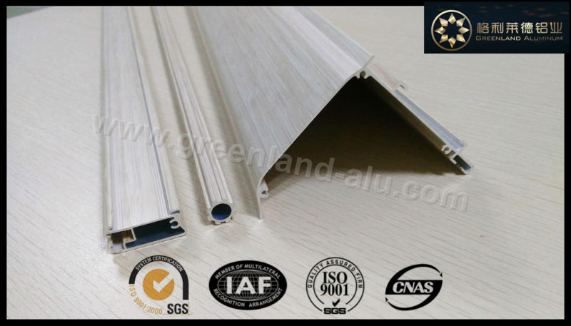 Aluminium Profile for Roman Blind Close Head Rail Powder Coating White with Velcro Gl3002