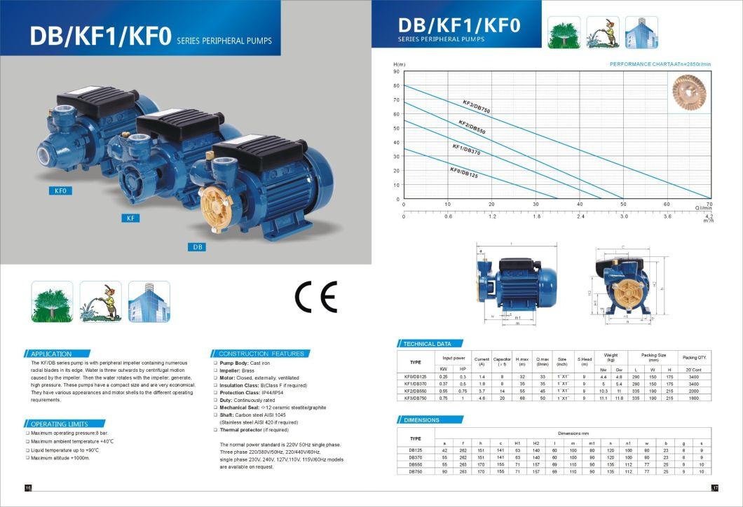 Kf2 Kf Vortex Pump Clean Water Pump 0.5HP 0.37kw