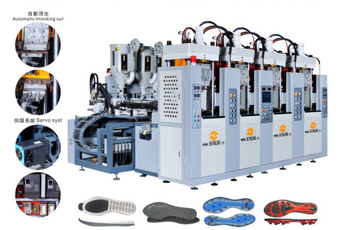 Sole Injection Moulding Machine (2 station, 4 screw)