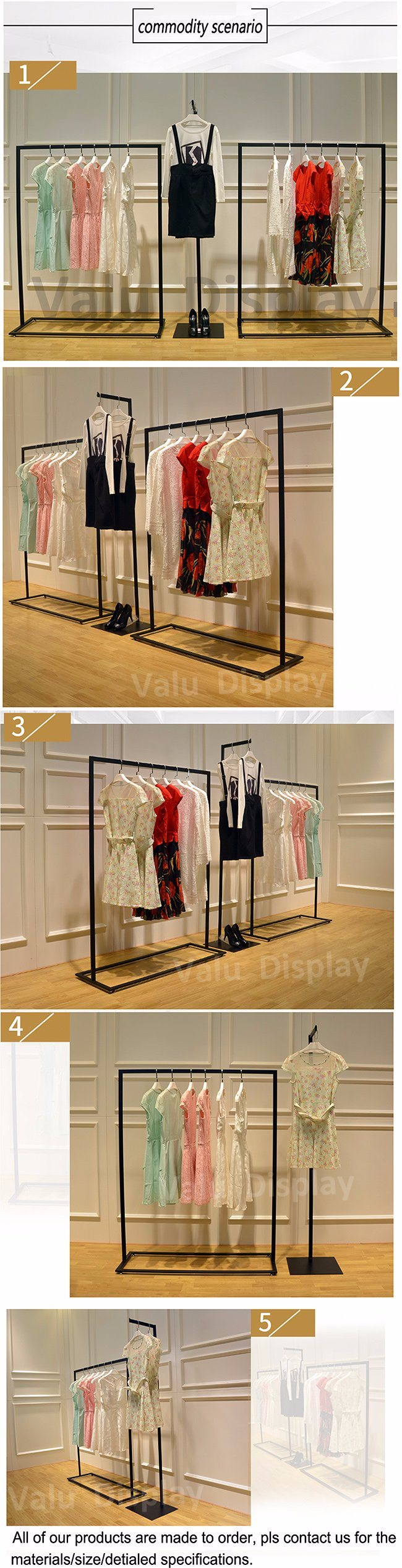 New Design Retail Store Baby Clothes Display Stand for Clothing Shop Fitting