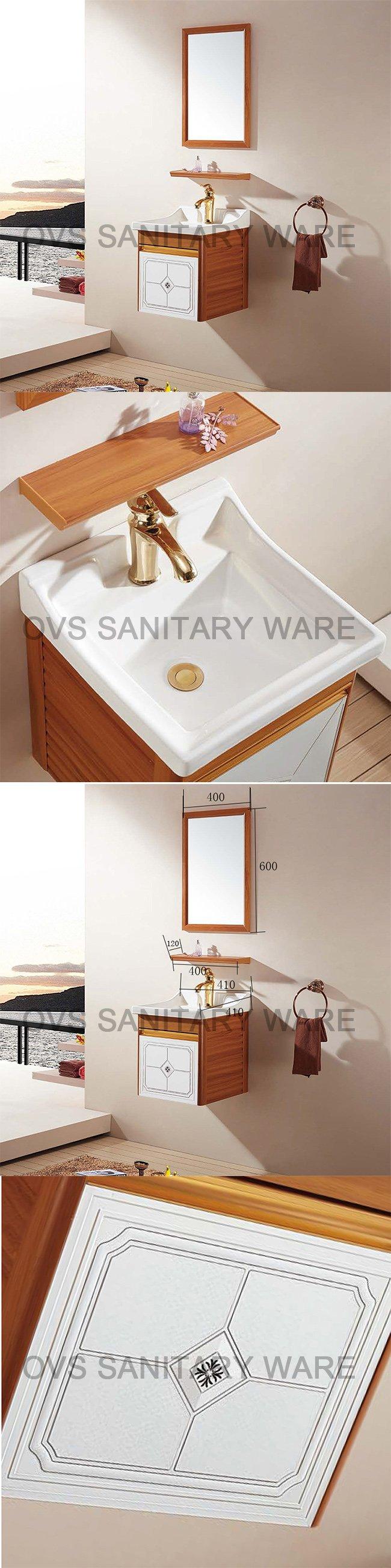 Classic Style Single Basin Aluminum Vanity Bathroom Cabinet