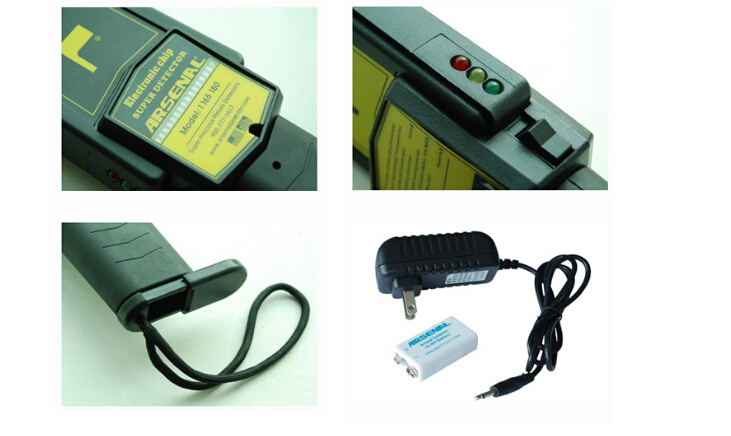 Handheld Portable Museums Hand Held Metal Detectors with Rechargeable Battery