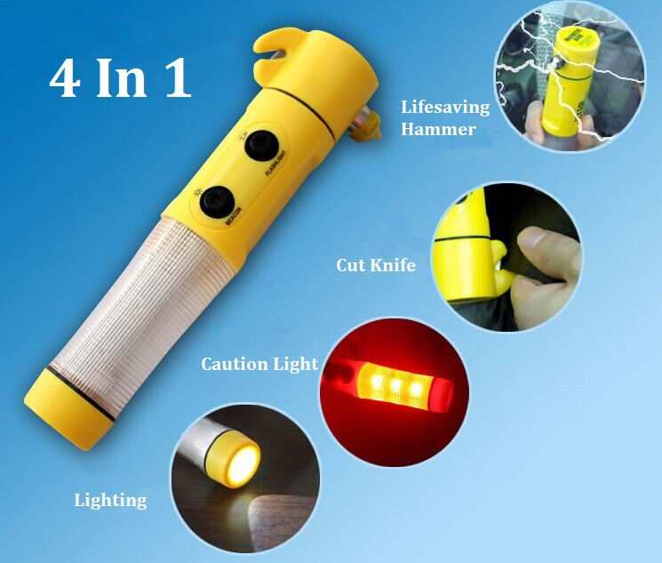 Mini Multi-Function 4 in 1 Auto Emergency Hammer